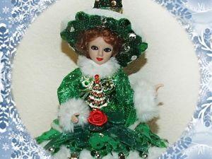 Моя Ёлочка (ведьмочка в зеленом) — кукла-шкатулка. Ярмарка Мастеров - ручная работа, handmade.