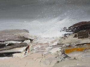 Sea with Several Strokes of Artist. Livemaster - handmade