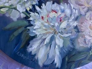 Белый танец — круглая картина на холсте. Ярмарка Мастеров - ручная работа, handmade.