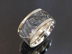 Серебряное кольцо  «Охота». Ярмарка Мастеров - ручная работа, handmade.