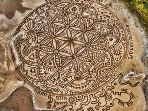 Искусство не вечно: хорват Никола Фаллер создаёт масштабные рисунки на песке и полях. Ярмарка Мастеров - ручная работа, handmade.