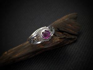 Серебряное кольцо с Аметистом. Ярмарка Мастеров - ручная работа, handmade.