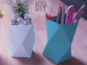 Paper Origami Vase in 5 minutes. Livemaster - handmade