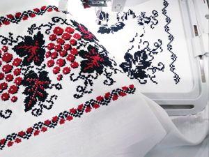 Процесс вышивки блузки  «Виноград». Ярмарка Мастеров - ручная работа, handmade.