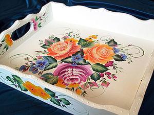 Тагильская роза ( двойной мазок). Ярмарка Мастеров - ручная работа, handmade.