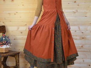 Сарафан и юбка  «Селяночка». Ярмарка Мастеров - ручная работа, handmade.