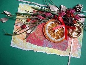 Флористическая открытка на Рождество и Новый год. Ярмарка Мастеров - ручная работа, handmade.