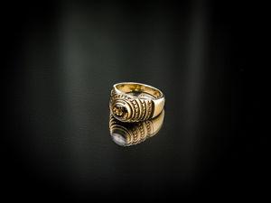 Видео кольца  «The Pyramid» с коричневым цирконом. Ярмарка Мастеров - ручная работа, handmade.