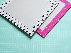 Как сделать аккуратные уголки на обложке из ткани. Ярмарка Мастеров - ручная работа, handmade.