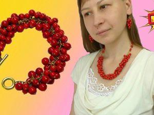 Как сделать объемные сережки, браслет, бусы. Сборка украшений DIY. Ярмарка Мастеров - ручная работа, handmade.
