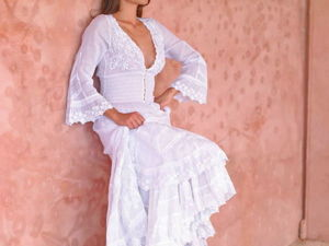 White Boho or Chic Clothing for the Queen of Summer Beach. Livemaster - handmade