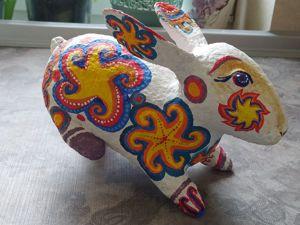 Пасхальный кролик из папье-маше. Часть 4. Ярмарка Мастеров - ручная работа, handmade.