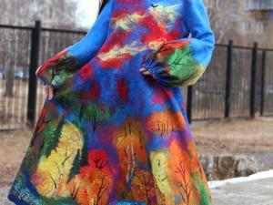 Платье  «Счастливая Осень». Ярмарка Мастеров - ручная работа, handmade.