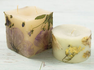 Decorating Candles with Dried Flowers. Livemaster - handmade