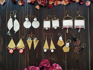 Новая коллекция бохо серёжек  «Из лета в осень». Ярмарка Мастеров - ручная работа, handmade.