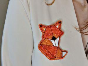 Брошь «Лисица» из бисера своими руками. Ярмарка Мастеров - ручная работа, handmade.