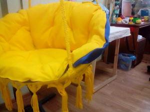 Как сшить подушку для подвесного кресла. Ярмарка Мастеров - ручная работа, handmade.