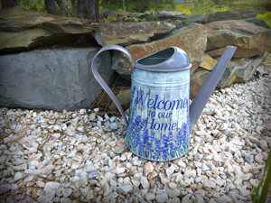 Decoupaging Garden Watering Can. What to Do with Torn Decoupage Napkin. Livemaster - handmade