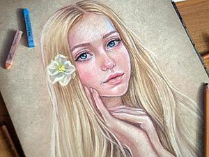 Мастер-класс: нежный портрет пастелью поэтапно. Ярмарка Мастеров - ручная работа, handmade.