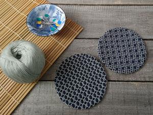 Делаем подставку под чашку с японской вышивкой «Сашико». Ярмарка Мастеров - ручная работа, handmade.