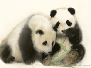 Фантастически милые животные в акварелях Lin Shunxiong. Ярмарка Мастеров - ручная работа, handmade.
