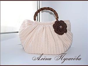 Вяжем сумку «Тучный мешок». Ярмарка Мастеров - ручная работа, handmade.