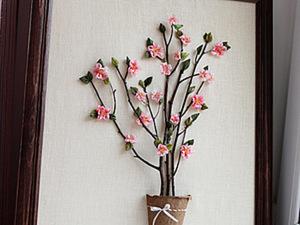"""Объемная картина """"Дерево с цветами"""". Ярмарка Мастеров - ручная работа, handmade."""