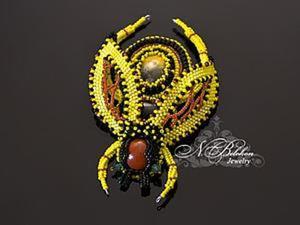 Вышивка бисером: брошь-пчела. Ярмарка Мастеров - ручная работа, handmade.