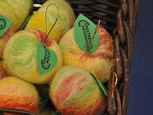 """Валяние для ленивых: """"Шерстяные яблоки"""". Ярмарка Мастеров - ручная работа, handmade."""