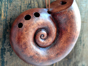 Окарина  «Древняя раковина». Ярмарка Мастеров - ручная работа, handmade.