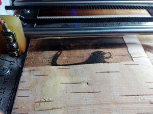 Выжигание на БЕРЕСТЕ станком ЧПУ выжигателем Пайропринтер. Ярмарка Мастеров - ручная работа, handmade.