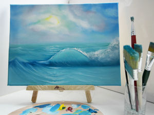 Painting Seascape with Oil Paints. Livemaster - hecho a mano - handmade.