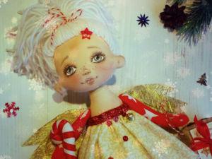 Ангел в каждый дом! Мастер-класс по созданию новогодней текстильной куклы. Ярмарка Мастеров - ручная работа, handmade.