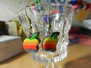 """Видео мастер-класс: создаем серьги """"Яблочки"""" (Iphone apple) из полимерной глины. Ярмарка Мастеров - ручная работа, handmade."""