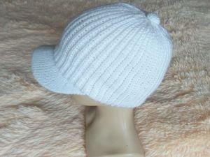Как сделать козырек для кепки спицами. Ярмарка Мастеров - ручная работа, handmade.