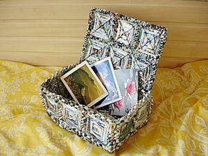 """Стильный """"сундук"""" из журнальных листов. Ярмарка Мастеров - ручная работа, handmade."""