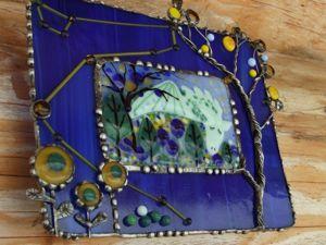 Создаем витражное панно-ночник «Дракон, прилетевший со звезд, отдыхает после трудного пути на лесной поляне, всё вокруг хранит его сон». Ярмарка Мастеров - ручная работа, handmade.