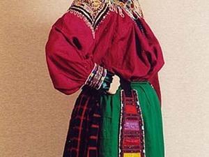 Клетчатая ткань в русском народном костюме. Ярмарка Мастеров - ручная работа, handmade.