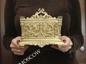 Салфетница старинная антикварная подставка бронза латунь Франция 20. Ярмарка Мастеров - ручная работа, handmade.