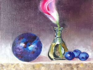 Сиреневый цветок и фиолетовые фрукты. Ярмарка Мастеров - ручная работа, handmade.