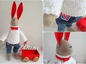 Делаем уши зайцу Тильда. Ярмарка Мастеров - ручная работа, handmade.