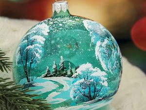История елочного шарика. Ярмарка Мастеров - ручная работа, handmade.