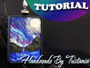 """Видеоурок: кулон в технике """"Имитация живописи"""" из полимерной глины. Ярмарка Мастеров - ручная работа, handmade."""