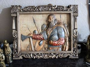Викинг Картина, пано из дерева,подарок и украшение для интерьера. Ярмарка Мастеров - ручная работа, handmade.