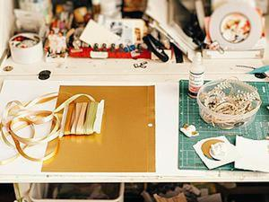Как просто сделать открытку из лент и картона. Ярмарка Мастеров - ручная работа, handmade.