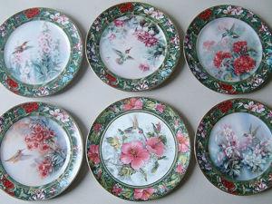 Настенные  тарелочки из серии Сокровища колибри Леню Лю. Ярмарка Мастеров - ручная работа, handmade.