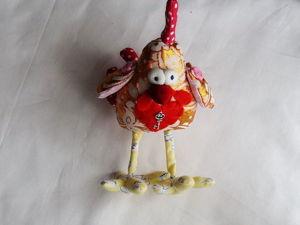 Шьем новогодний сувенир — забавного текстильного Петушка. Ярмарка Мастеров - ручная работа, handmade.