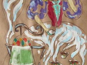 Графика, Турецкое кофе, формат А4. Ярмарка Мастеров - ручная работа, handmade.