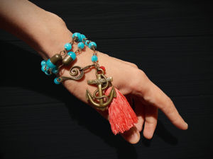 Колье-браслет  «Дочь моря». Ярмарка Мастеров - ручная работа, handmade.