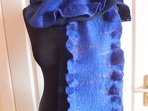 Валяем шарф два в одном. Ярмарка Мастеров - ручная работа, handmade.